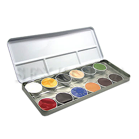 KR.Rubber Mask Grease Paint Palette 12색